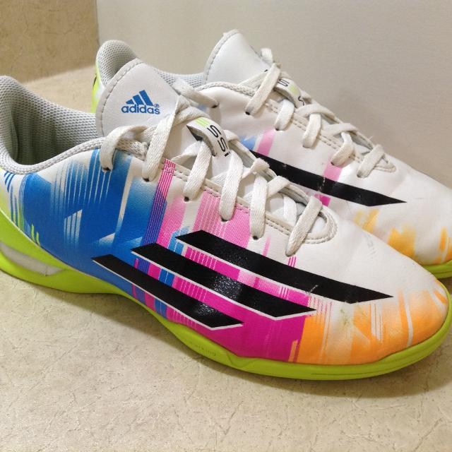 dc194524840 Find more Adidas Messi Indoor Soccer Shoes - Size 4 for sale at up ...