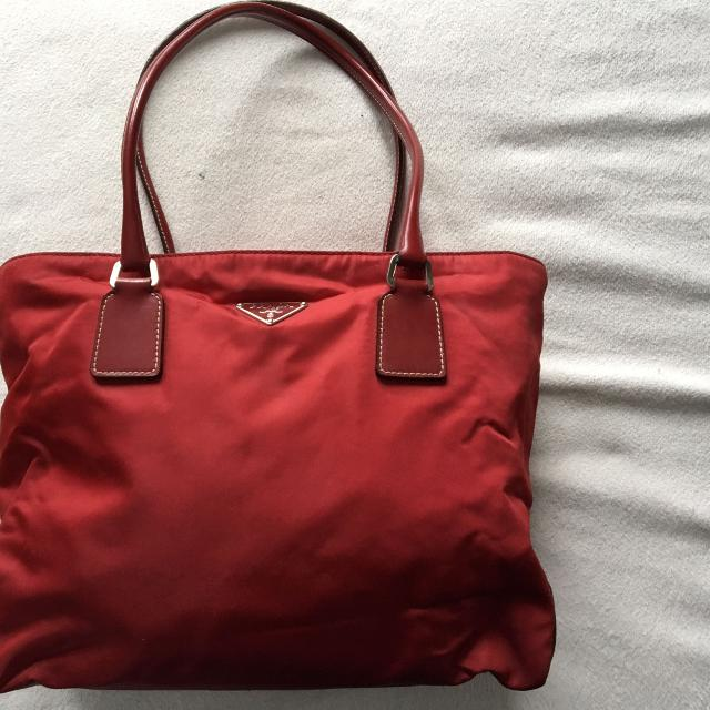 Find more Authentic Red Prada Nylon Bag for sale at up to 90% off 346555f9ba