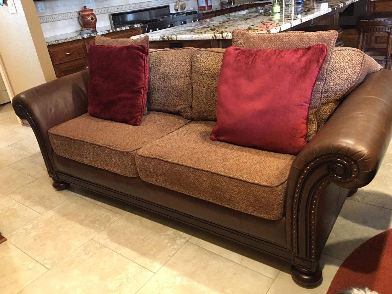 Bernhardt leather/fabric sofa
