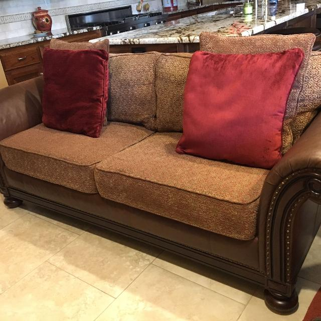 Bernhardt leather/fabric sofa