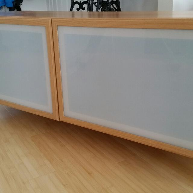 Find More Tv Standentertainment Unit Ikea Besta Vegby With Glass