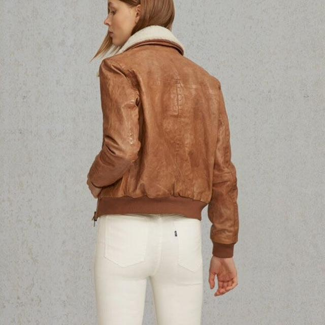 Best Levi s Women Leather Bomber Jacket for sale in Medford 719356173