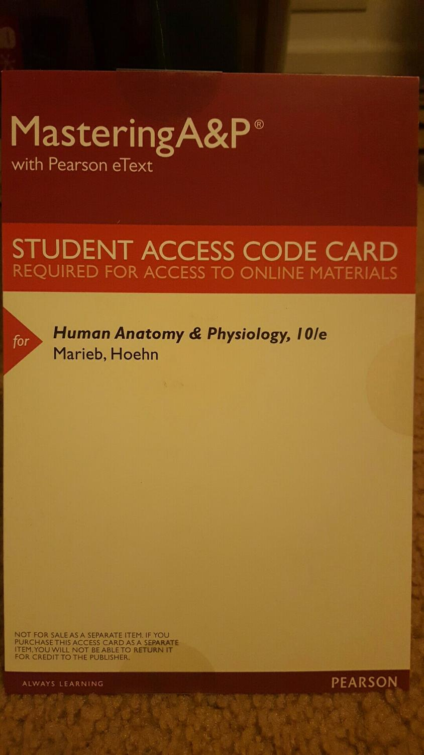 Best Mastering A&p Student Access Code. *click For Description* for ...