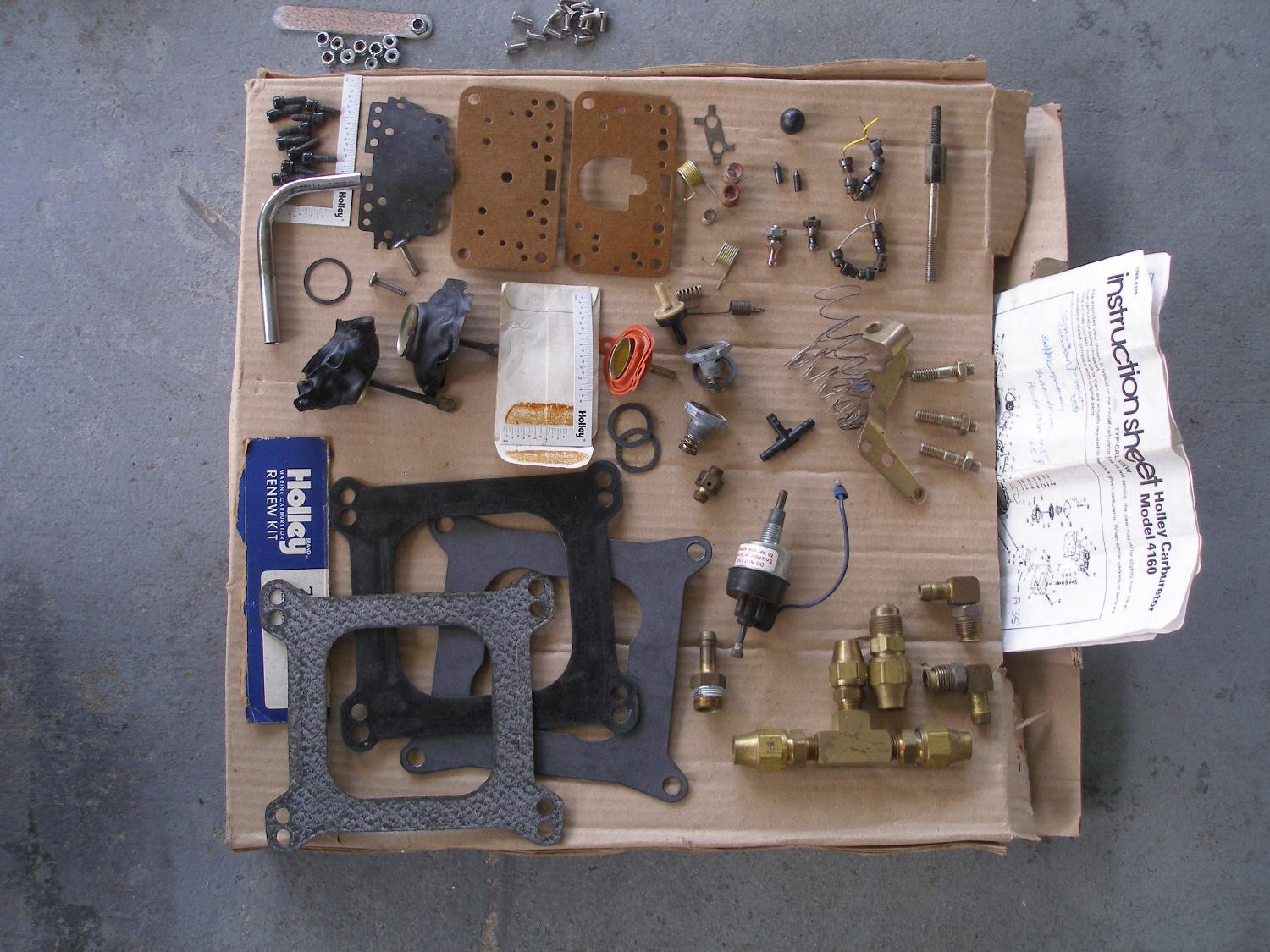 Holley Carb parts and manifold gaskets