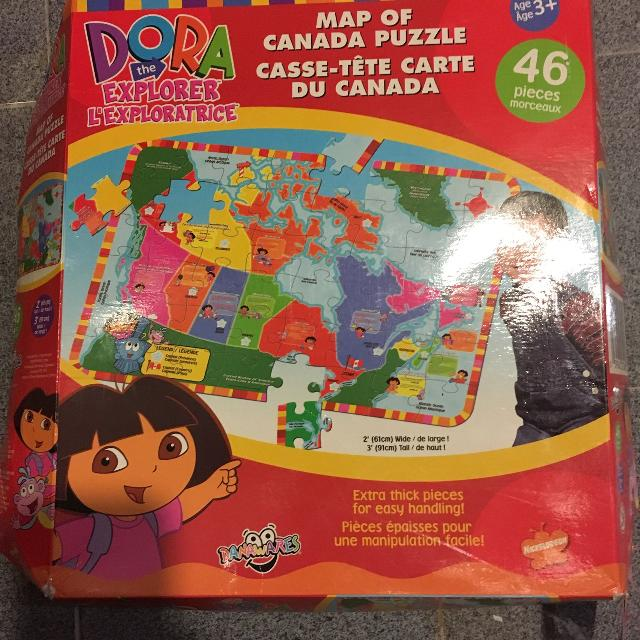 Dora giant floor puzzle map of Canada on world map puzzle pieces, united states map puzzle, world map bookmarks, world map rug, world map of the floor, world map wood puzzle, world map lettering, world map 1000, printable world map puzzle, world map stickers, world map coloring page preschool, sesame street puzzle, large world map puzzle, world map game, world jigsaw puzzles, continents map puzzle, world map arts and crafts, world map chart, world map clock,