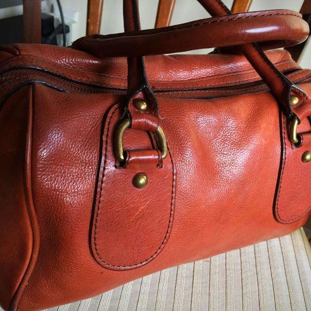 9982d6c4de5c Vintage Banana Republic Deep Cognac Doctors Bag Satchel Hand Bag Purse  40  100% Leather