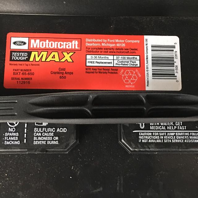 Find More Motorcraft Bxt-65-650 Battery Brand New! For