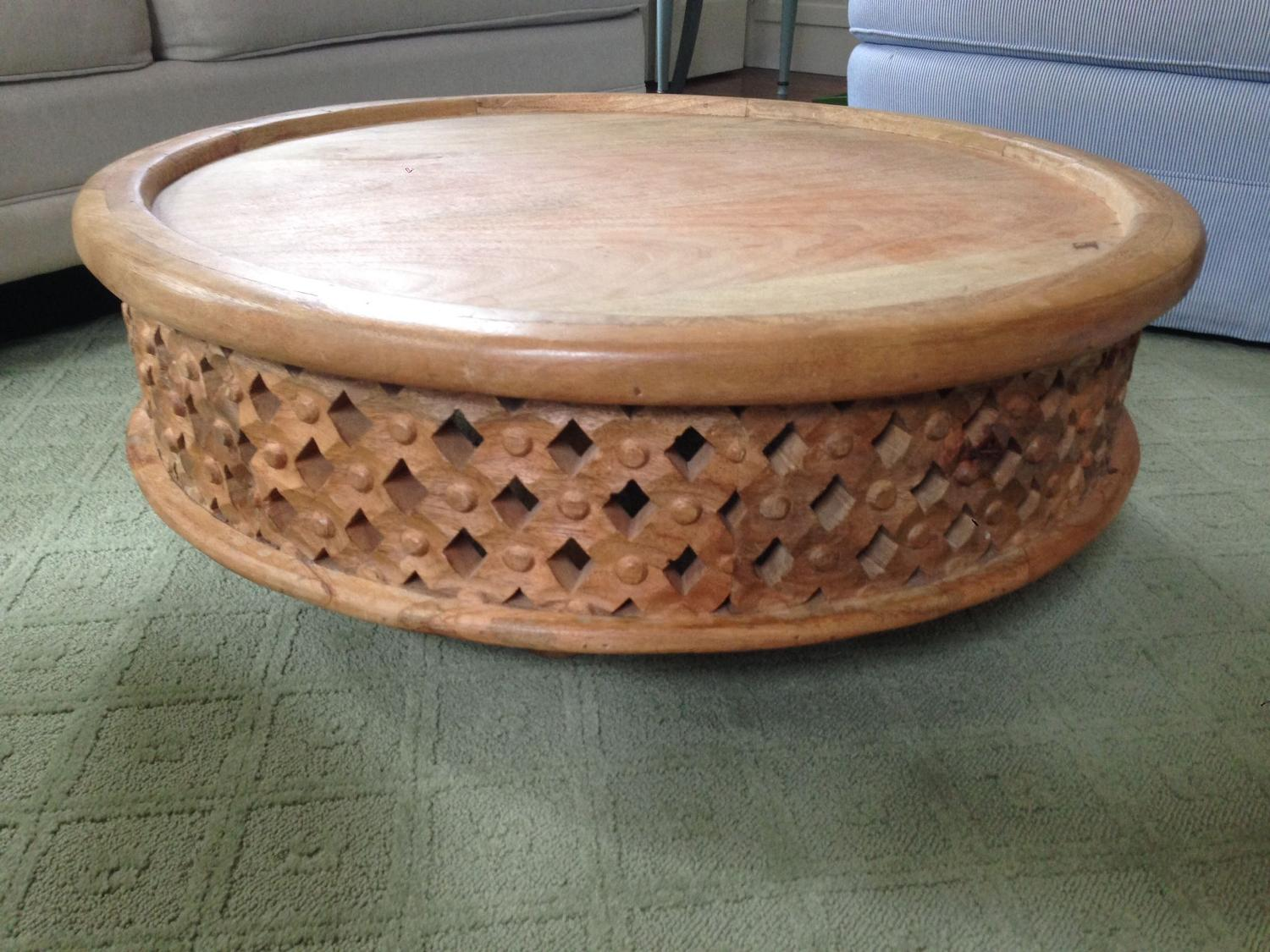 Find More West Elm Carved Wood Coffee Table For Sale At Up To 90 Off