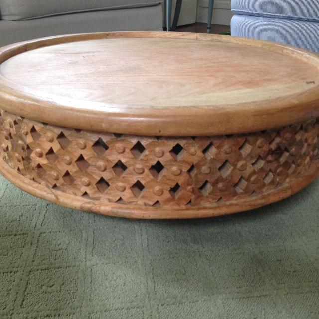Find More West Elm Carved Wood Coffee Table For Sale At Up To Off - West elm carved wood side table