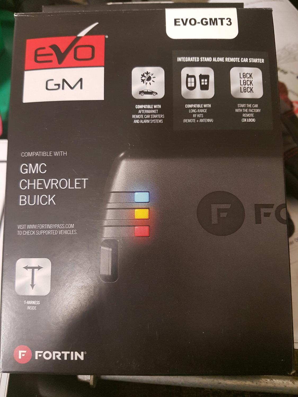 Find More Fortin Evo Gmt3 Remote Start For Sale At Up To 90 Off Gmc Starter