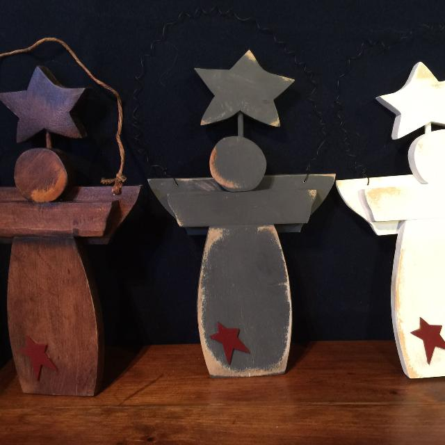 Handcrafted Wooden Angels