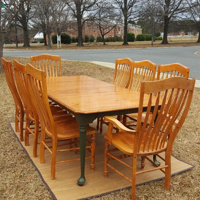 Find more Nichols & Stone Solid Maple Dining Room Set for sale at up ...