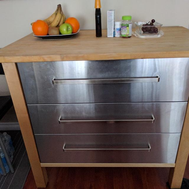 Find More Ikea Kitchen Island Butcher Block Top Metal Look Pullout Drawers For Sale At Up To 90 Off