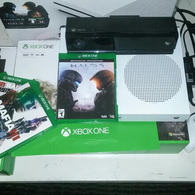 XBOX ONE S with KINECT & Games LNIB