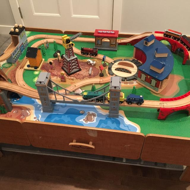 Imaginarium Mountain Rock Train Table With Lots Of Tracks And Trains Thomas And Friends