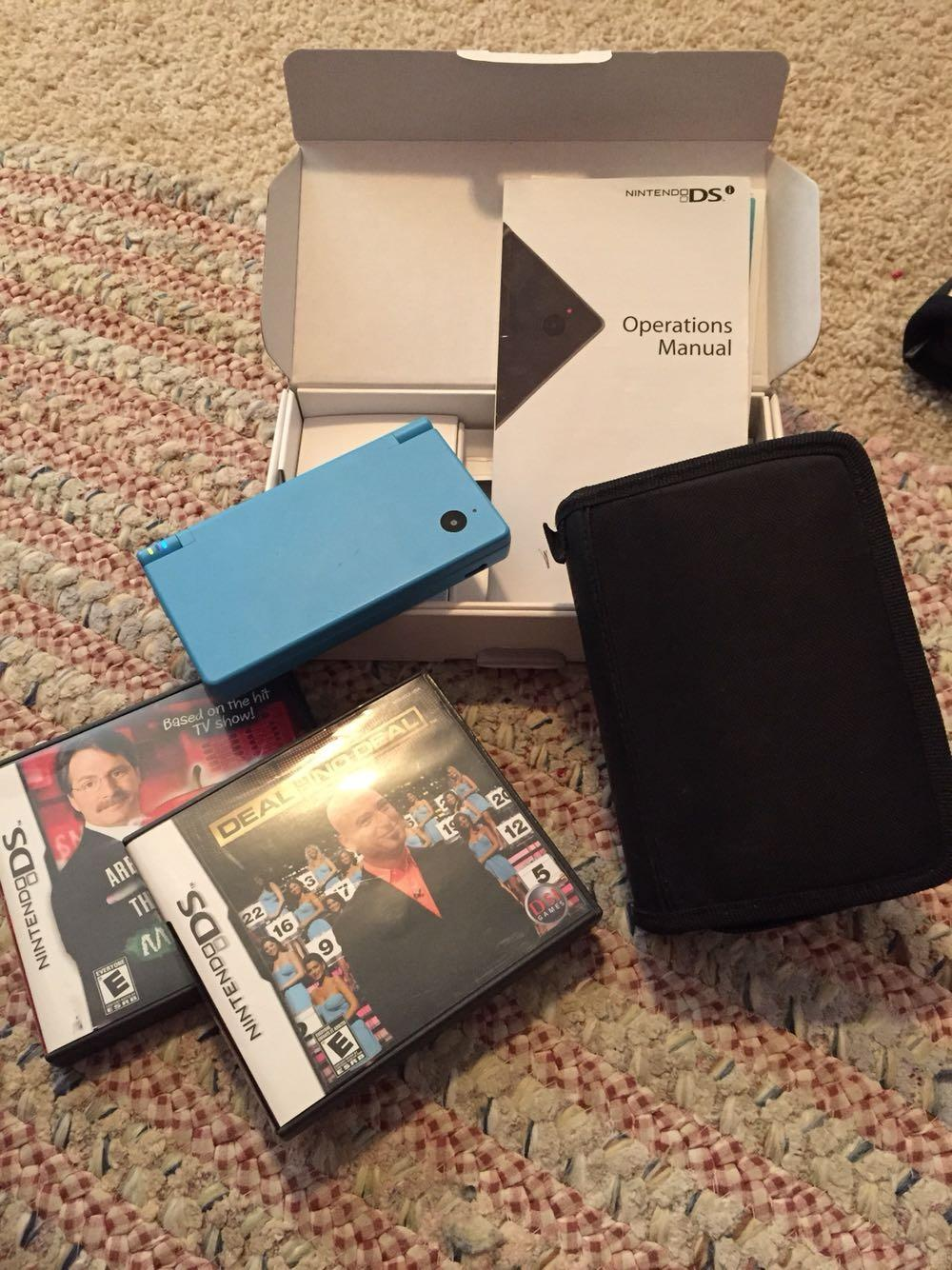 Nintendo DSi, case, stylus, 2 games (like Are You Smarter Than A 5th  Grader? and Deal or No Deal) - all for $40