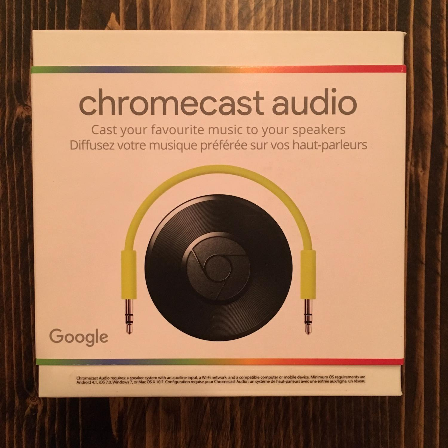 Chromecast Audio with gold plated RCA cable