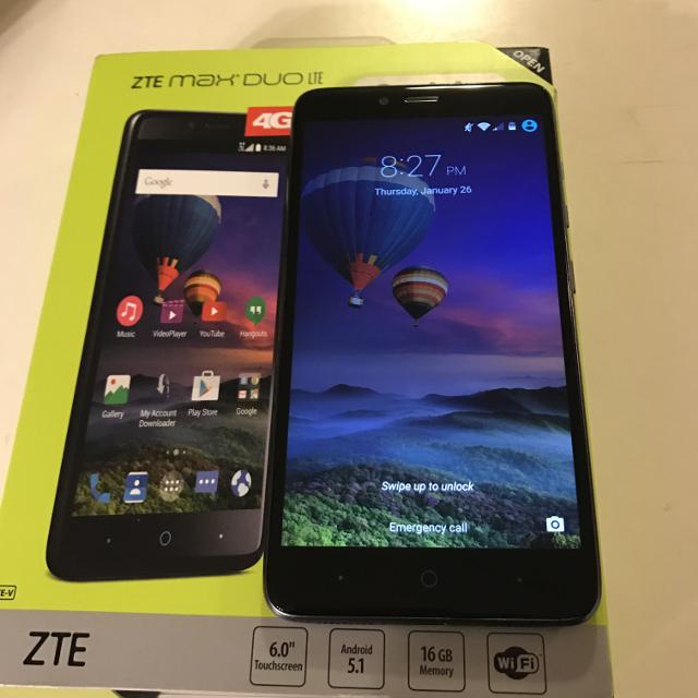 ZTE Max Duo Lte 4g Straight Talk Phone