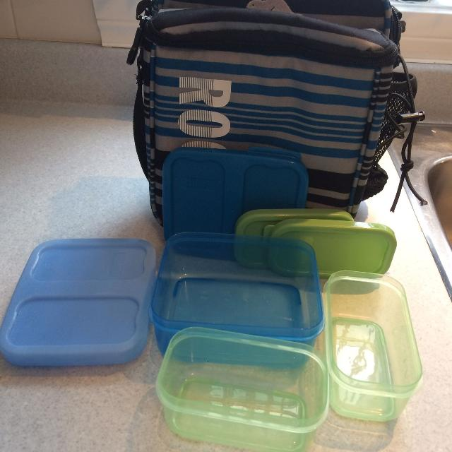 Roots Lunch Bag Containers And Ice Pack