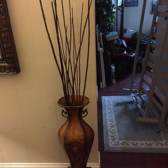 Find More Pier 1 Imports Tall Floor Accent Vase With Decorative Wood