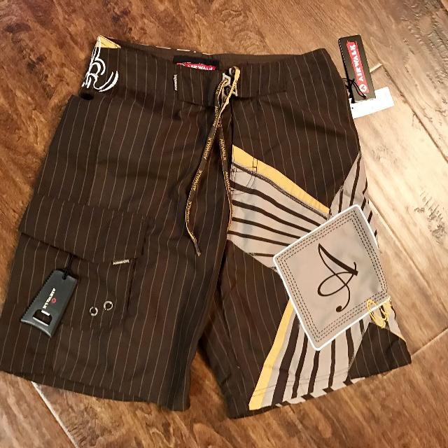 556a14434d Find more Nwt Airwalk Swim Trunks With Bottle Opener. Size 28 ...