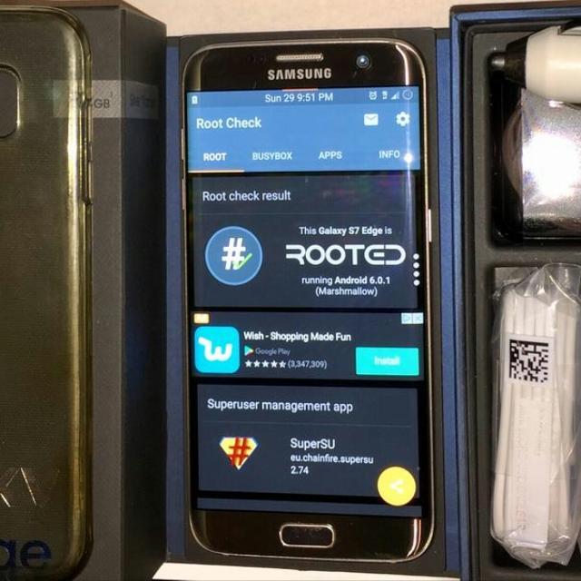 Samsung Galaxy S7 Edge 32GB Gold Platinum • Unlocked & Rooted