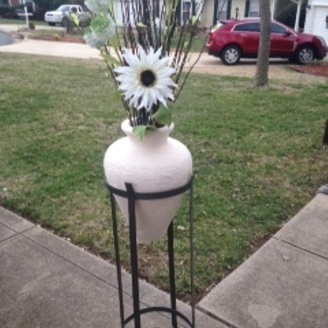 Best Terra Cotta Floor Vase Wmetal Stand For Sale In Monroe North