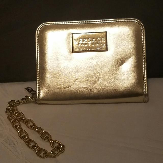 a06c78837f New unused Versace Parfums gold clutch bag wallet wristlet