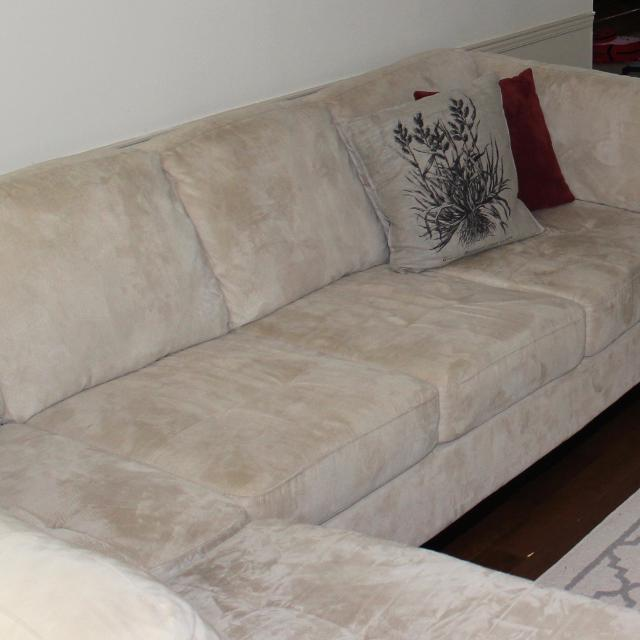 Find More 2 Piece Microsuede Left Facing Sectional From The Brick