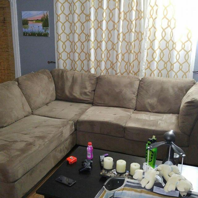 Find more Oakdale Sectional Microfiber Sofa In Cocoa for sale at up ...