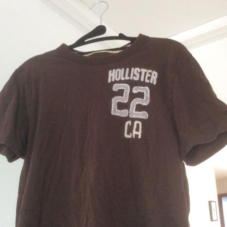 Used, Hollister Mens Brown T-Shirt, Medium for sale  Canada