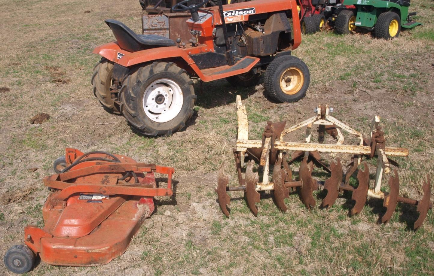 Find more Gilson Riding Mower Garden Tractor With Implements Disk ...