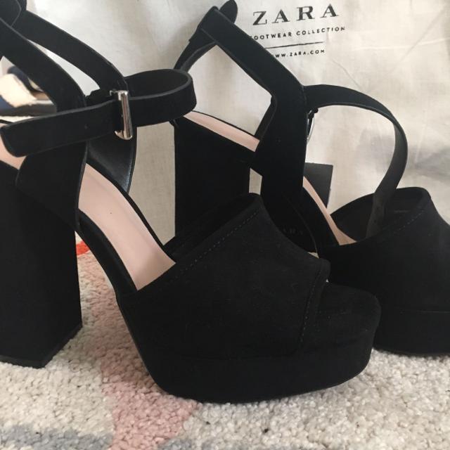 4b7454bcc9a5 Best Zara Platform Velvet Open Toe Shoes for sale in Houston