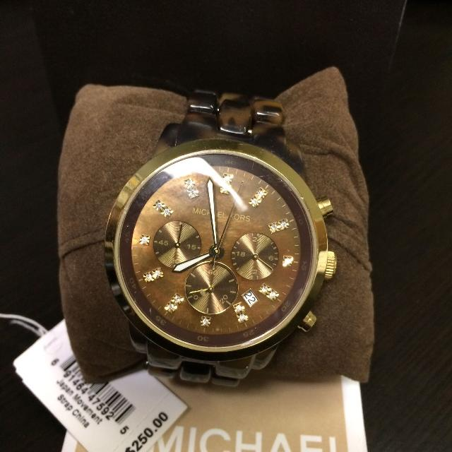 3407019e93992 Shop more nearby items in this category. MK ROSE GOLD CAMILLE GLITZ WATCH