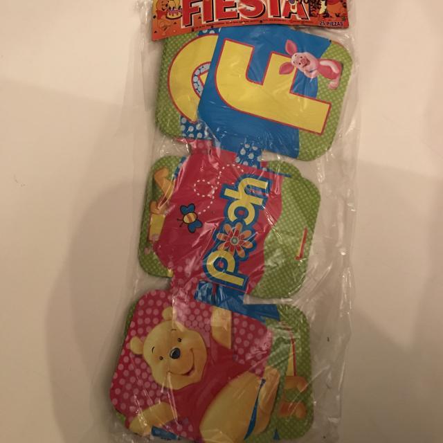 Winnie The Pooh Birthday Banner In Spanish