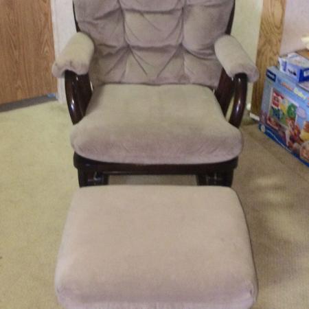 Glider Chair And Ottoman Rocker Nursery Rv