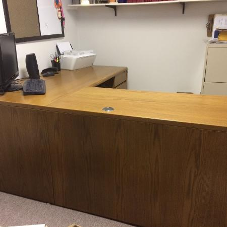 Solid Oak Office Desk (price reduced) for sale  Canada