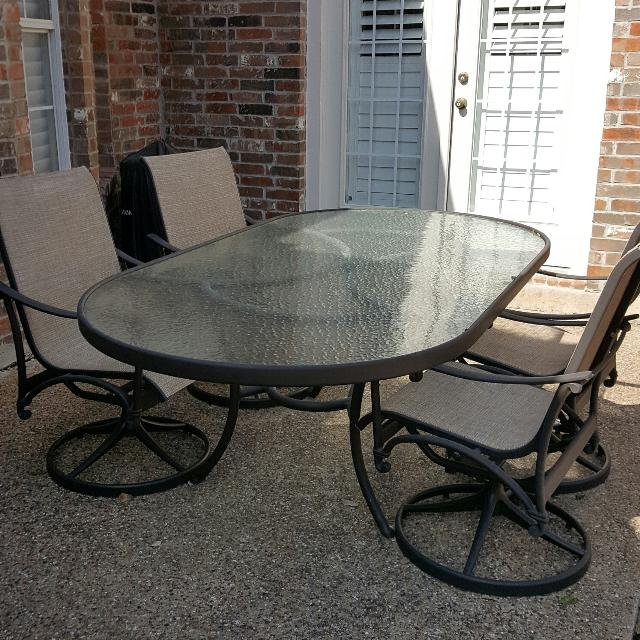 Best Patio Table And 4 Swivel Rockers For In Mckinney Texas 2019