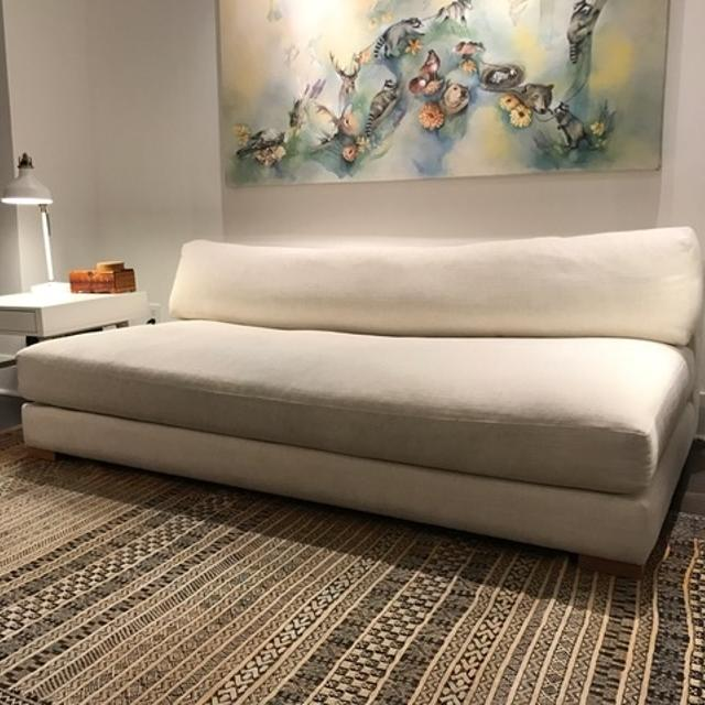CB2 Piazza Sleeper Sofa, off white, linen look - GREAT CONDITION