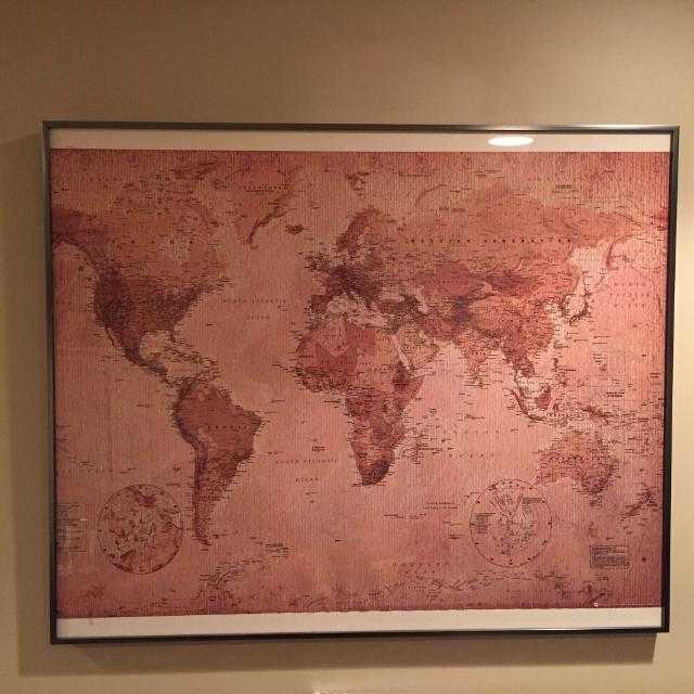 Find more vintage world map poster in glass frame for sale at up to vintage world map poster in glass frame gumiabroncs Choice Image