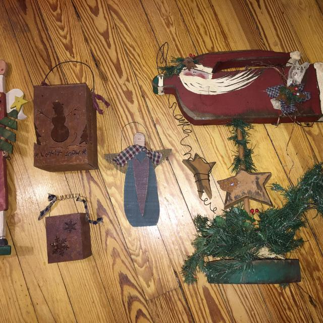 rustic christmas decor handmade wood metal decorations