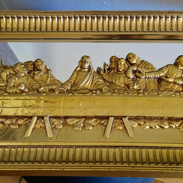 best vintage home interior gold mirror last supper for sale in
