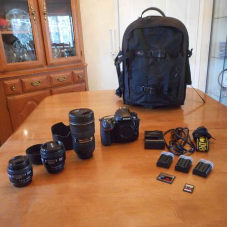 Nikkon D800 and Lenses - Perfect... for sale  Canada