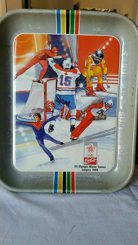 1988 Calgary Olympic games Coca-Cola tray