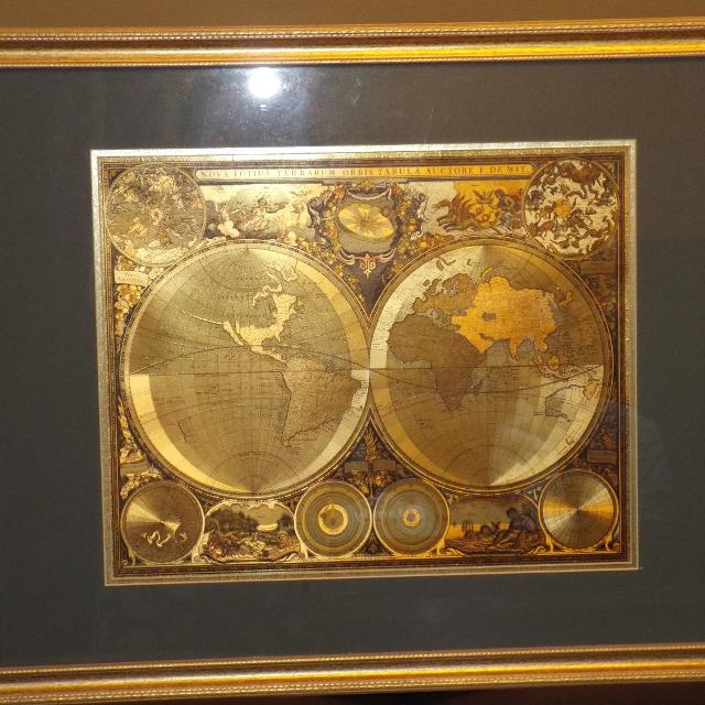 Find more antique style world map on gold foil nova totius terrarum antique style world map on gold foil nova totius terrarum orbis tabula auctore f de gumiabroncs Image collections