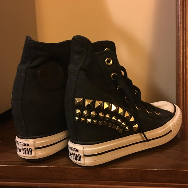 deeb44c1c02 Find more Converse Wedges Shoes With Gold Studs for sale at up to 90 ...