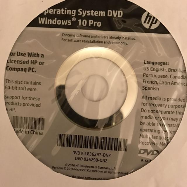 how to install windows 10 from cd hp