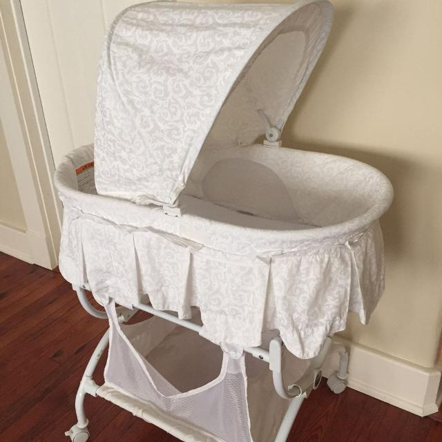 Find More White Kolcraft Tender Vibes Deluxe Bassinet Baby For Sale