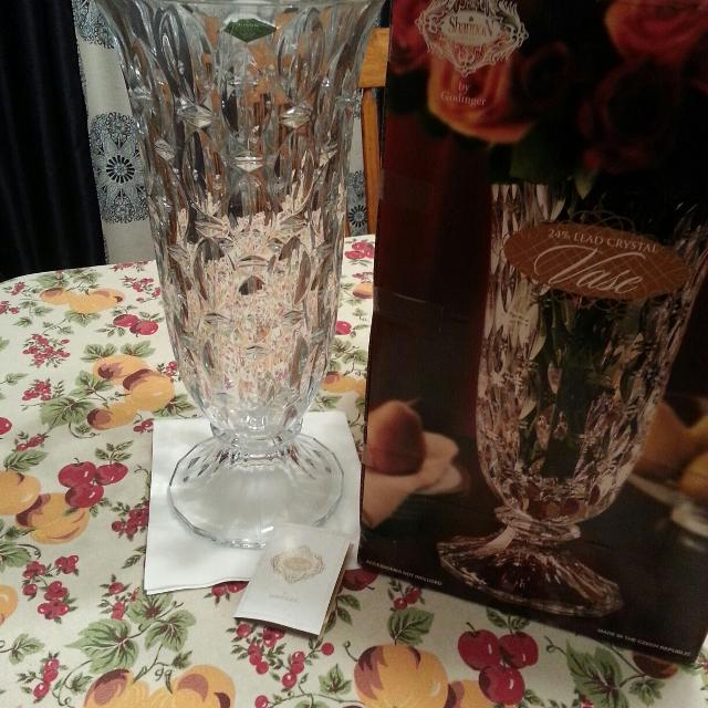 Find More Huge 17 Inch Tall 24 Lead Crystal Vase Shannon Crystal