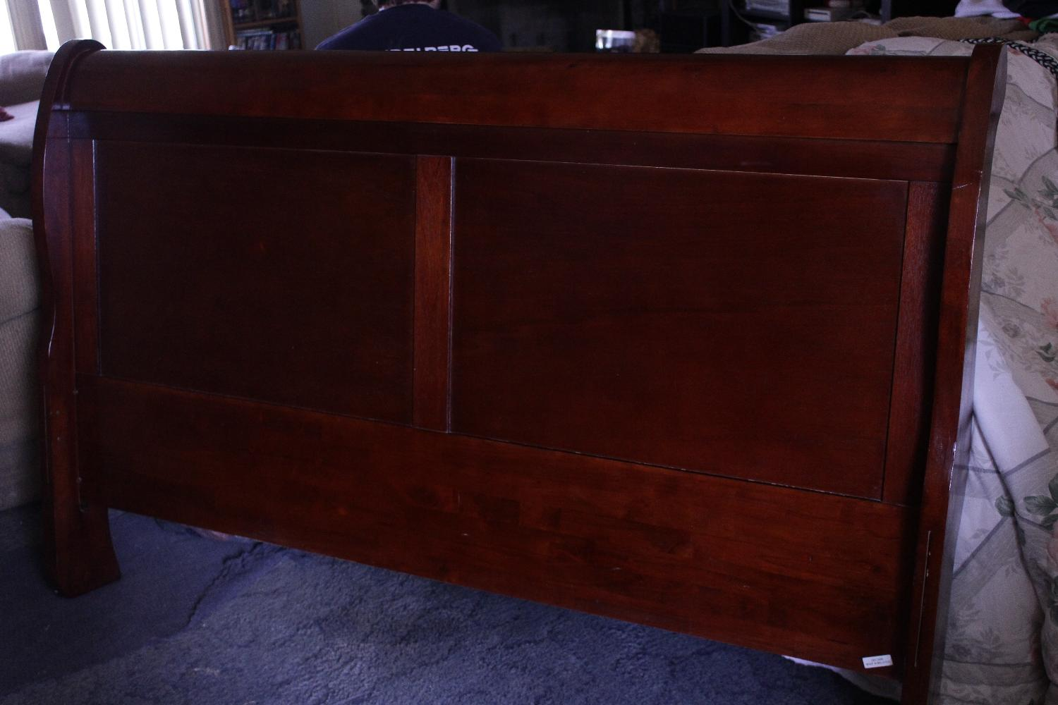Very Impressive portraiture of Best Cherry Wood Sleigh Bed Queen ( Price Reduced) Need To Sell!! for  with #281013 color and 1500x1000 pixels